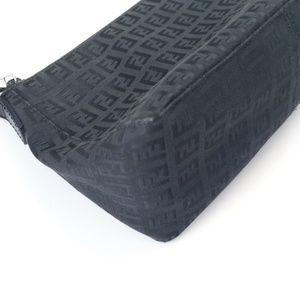 Fendi Bags - Fendi Logo Designer Black Zucca Shoulder Bag